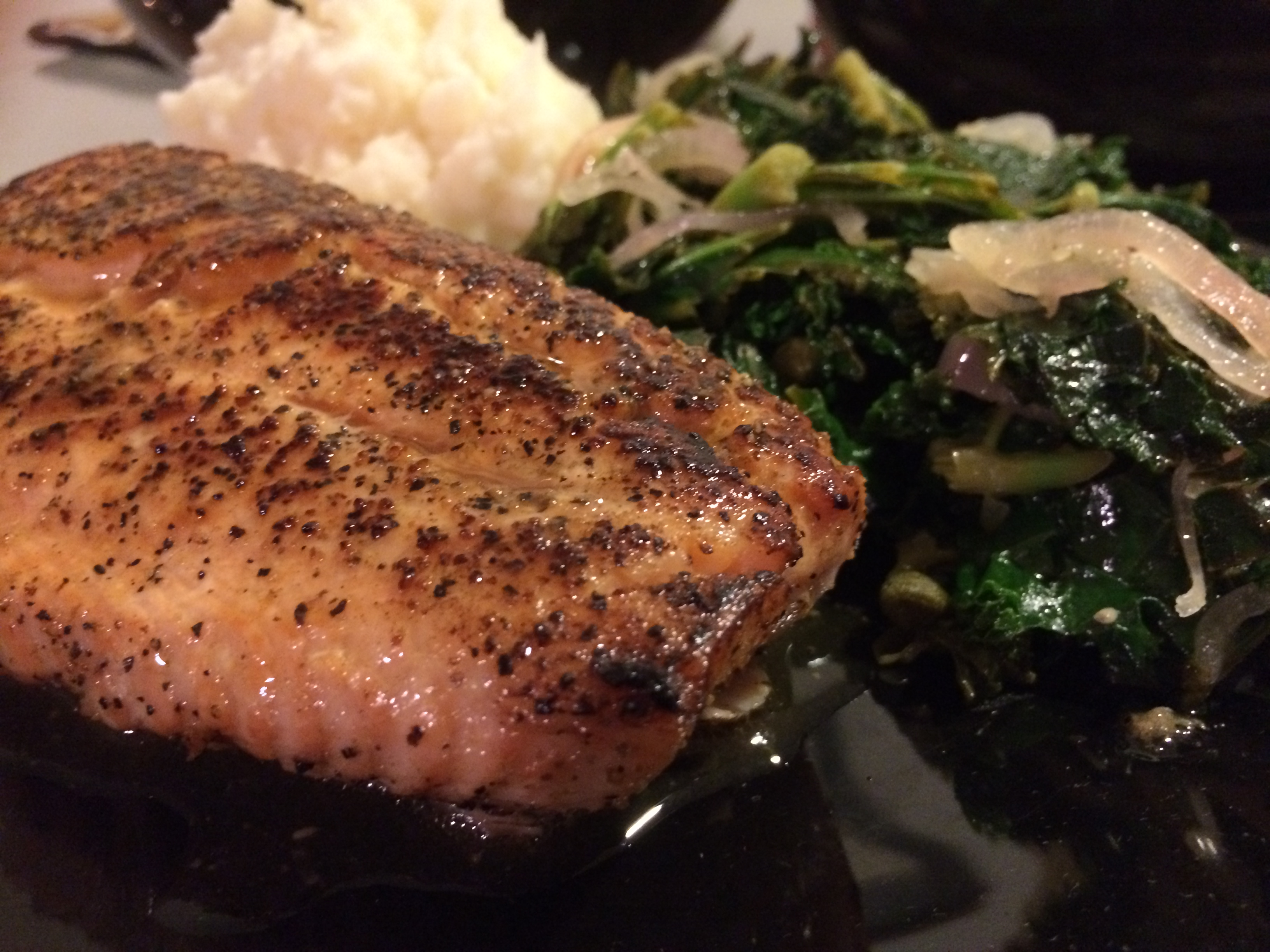Lemon Garlic Salmon & Sauteed Kale | Truth and Good Food