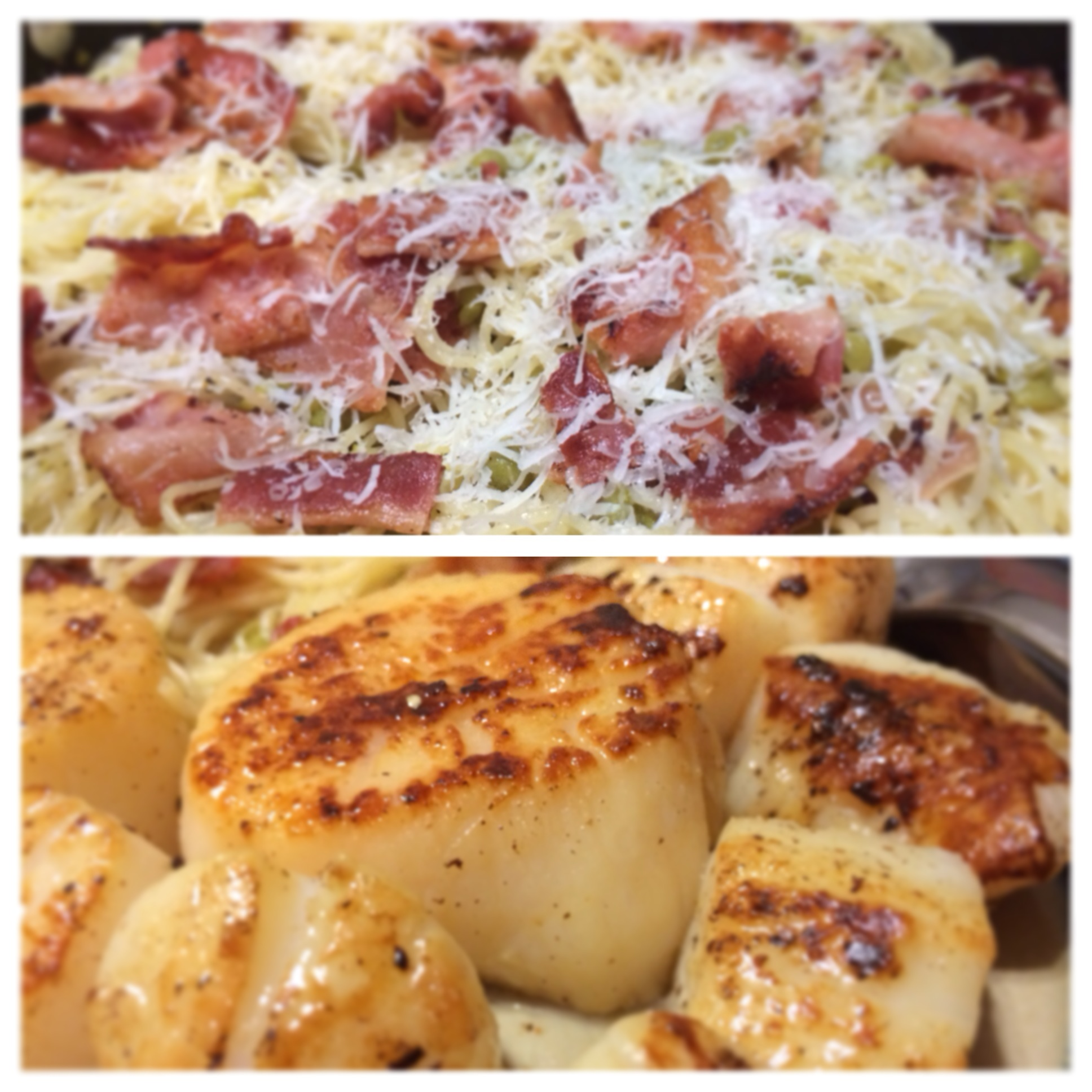 Seared Scallops with Parmesan Prosciutto Angel Hair Pasta | Truth and ...