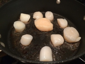 Scallops cooking